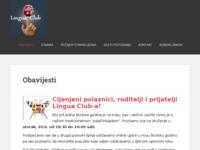 Frontpage screenshot for site: Lingua Club, d.o.o. za poduku stranih jezika (http://www.lingua-club.hr)