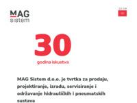 Frontpage screenshot for site: Mag Sistem d.o.o (http://www.magsistem.hr)