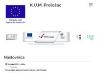 Slika naslovnice sjedišta: Kulturna udruga mladih KUM Proložac (http://www.kum-prolozac.hr)