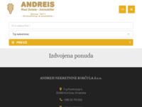 Frontpage screenshot for site: Agencija za promet nekretninama Korčula (http://www.andreis-nekretnine.com/)
