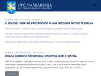 Slika naslovnice sjedišta: Službene stranice Općine Škabrnja (http://www.opcina-skabrnja.hr)