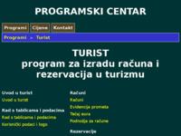 Frontpage screenshot for site: TURIST - program za vođenje poslovanja turističke agencije (http://www.programskicentar.net/turist.html)
