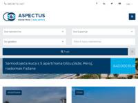 Frontpage screenshot for site: Nekretnine - kuće, stanovi, zemljišta, poslovni prostori (http://aspectus.com.hr)