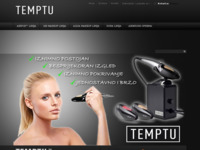 Frontpage screenshot for site: Temptu Pro - Profesionalna HD kozmetika (http://www.temptu.hr)