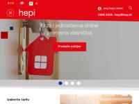 Frontpage screenshot for site: HEPI - Povoljniji tarifni modeli, jeftinija struja za kućanstva (http://hepi.hep.hr)