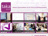 Slika naslovnice sjedišta: Taka.hr - Razvoj proizvoda u tekstilnom i odjevnom businessu (http://www.taka.hr)