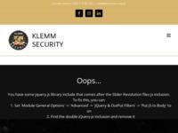 Slika naslovnice sjedišta: Klemm Security (http://klemmsecurity.hr)