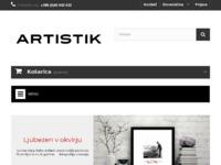 Frontpage screenshot for site: Dagal - Slikarski material (http://hr.dagal.eu)