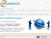 Frontpage screenshot for site: ABC prijevodi - sudski tumači i prevoditelji (http://www.abcprijevodi.hr)