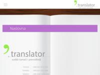 Frontpage screenshot for site: Agencija translator (http://www.agencija-translator.hr)
