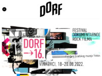 Frontpage screenshot for site: (http://www.filmfestivaldorf.com)