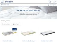 Frontpage screenshot for site: Madraci Dormeo (http://www.dormeo.com.hr/madraci/)