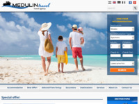 Frontpage screenshot for site: Medulin Travel - Turistička agencija (http://www.medulin-travel.com)