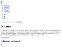 Slika naslovnice sjedišta: Veldić promet d.o.o. (http://www.veldic-promet.hr)