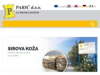 Slika naslovnice sjedišta: Parić d.o.o. za promet kožom (http://www.paric-hr.com)