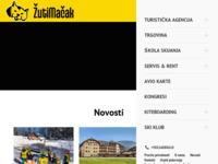 Frontpage screenshot for site: Žuti mačak - ski & surf (http://www.zutimacak.hr/)