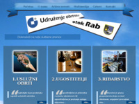 Frontpage screenshot for site: Udruga obrtnika - otok Rab (http://www.obrtnici-rab.hr)