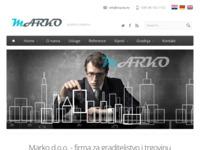 Slika naslovnice sjedišta: Marko d.o.o. - firma za graditeljstvo i trgovinu. (http://www.marko.hr/)