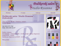 Frontpage screenshot for site: Pedikerski salon Studio Rosanna (http://www.pediker-rosanna.hr/)