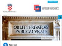 Slika naslovnice sjedišta: Povjerenstvo za odlučivanje o sukobu interesa (http://www.sukobinteresa.hr/)