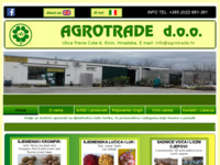 Frontpage screenshot for site: Agrotrade d.o.o. (http://www.agrotrade.com.hr)