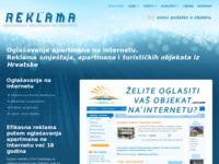 Frontpage screenshot for site: Reklama.hr - oglašavanje apartmana na internetu (http://reklama.hr)