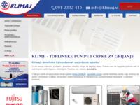 Slika naslovnice sjedišta: Klimaj (http://www.klimaj.hr/)