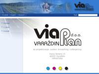Frontpage screenshot for site: Via Plan d.o.o. za projektiranje, nadzor, konzalting i inženjering (http://www.viaplan.hr)