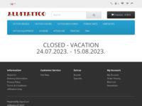 Frontpage screenshot for site: All4Tatoo oprema (http://www.all4tattoo.com)