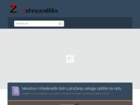 Slika naslovnice sjedišta: Tehnozaštita - Zaštita na radu (http://www.tehnozastita.hr)