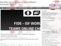 Slika naslovnice sjedišta: Školski športski savez Varaždinske županije (http://www.sssvz.hr)
