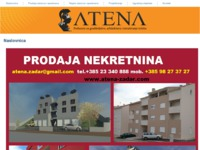 Frontpage screenshot for site: Atena d.o.o. (http://www.atena-zadar.hr)