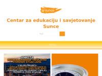 Slika naslovnice sjedišta: Centar za edukaciju i savjetovanje (http://www.ti-si-sunce.hr)