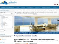 Frontpage screenshot for site: Alfa Plus Makarska (http://alfaplus-makarska.com)