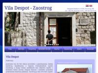 Frontpage screenshot for site: Vila Despot - Zaostrog (http://www.zaostrog.com.hr)