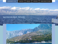 Frontpage screenshot for site: Apartmani Čović, Krvavica (http://www.makarska-riviera.at)