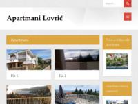 Frontpage screenshot for site: (http://apartmani-lovric-klenovica.com/)
