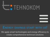 Frontpage screenshot for site: Tehnokom (http://www.tehnokom.hr)