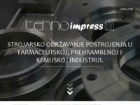 Frontpage screenshot for site: Tehno impress d.o.o. (http://www.tehno-impress.hr)