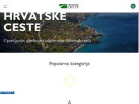 Frontpage screenshot for site: Hrvatske ceste (http://www.hrvatske-ceste.hr/)