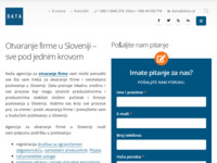 Frontpage screenshot for site: Osnivanje firme u Sloveniji - Data d.o.o. (http://www.data.si/hr)