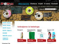 Frontpage screenshot for site: 21rope.hr - Skateboard, Snowboard, Wakeboard i Odjeća (http://www.21rope.hr)