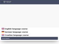 Frontpage screenshot for site: Škola za strane jezike Dubrovnik (http://www.dubrovnik-language-school.com)