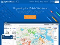 Frontpage screenshot for site: OptimoRoute: Planiranje ruta i rasporeda za distribuciju i mobilne radnike (http://optimoroute.com)