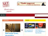 Frontpage screenshot for site: G.E.T. - udruga za kulturu stola (http://www.get4u.hr)