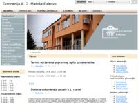 Slika naslovnice sjedišta: Gimnazija A. G. Matoša Đakovo (http://www.gimnazija-agmatosa-dj.skole.hr/)