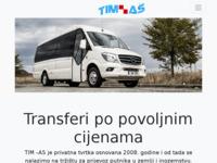 Frontpage screenshot for site: TIM-AS- Prijevoz osoba (http://www.tim-as.hr)
