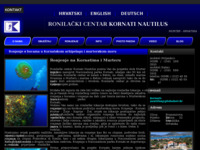 Frontpage screenshot for site: Ronjenje u Hrvatskoj, Kornati - Murter (http://obrt-kornati-nautilus.hr)