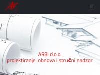 Slika naslovnice sjedišta: Arbi d.o.o. (http://www.arbi.hr)