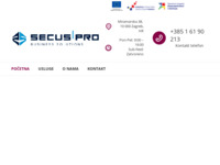 Frontpage screenshot for site: Secus webshop (http://www.secus.hr)